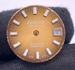 Eta-2651-Exactus-Automatique-Vintage-18-4-mm-Pas-Fonctionne-pour-Pieces
