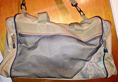 ***nice Tan/realtree Sport Gear Duffle Travel Bag Equipment School Athletic Gym Prijs Blijft Stabiel