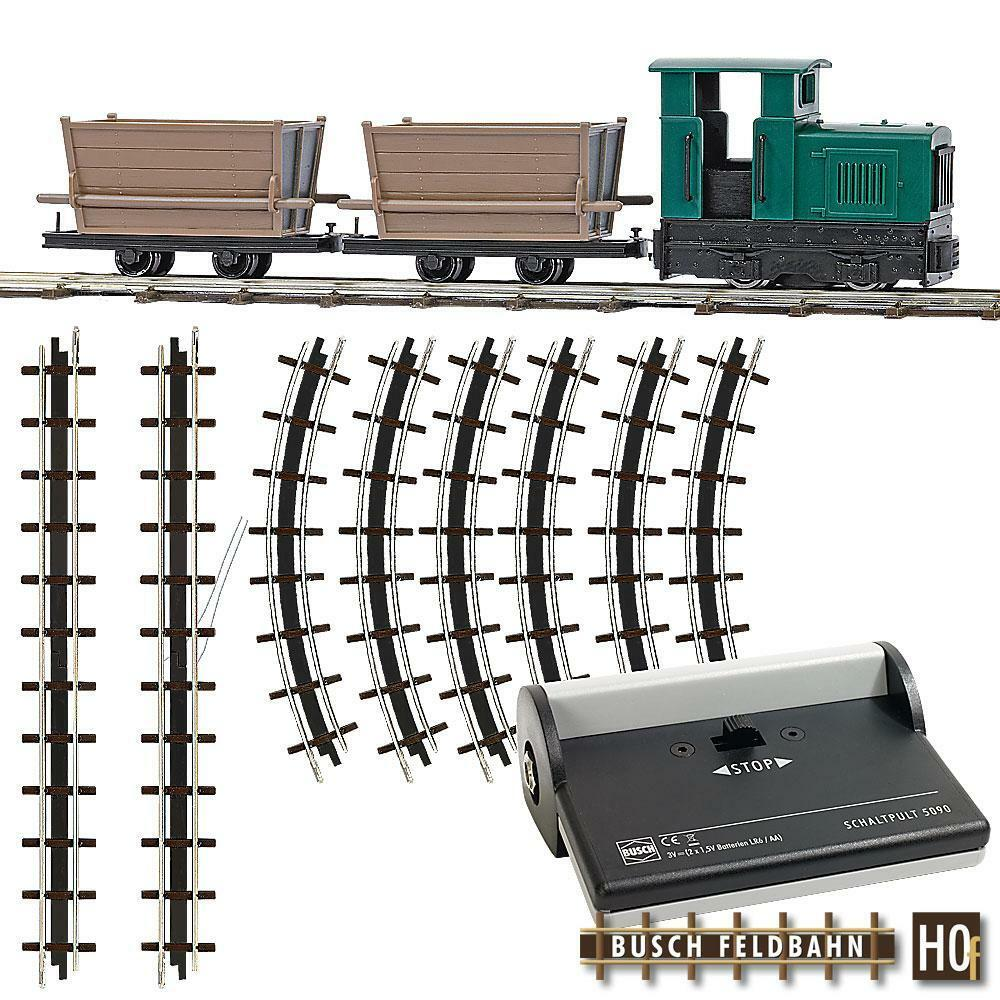 Busch 01 Locomotora H0f Set de Iniciación Torfloren Nuevo Emb. Orig. 2 Años