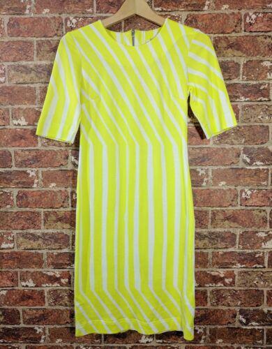 Marimekko XS Tiimalasi Dress Yellow Fitted Sheath