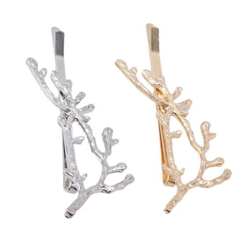Gold Silver Boho Branch Leaves Hairpin Bobby Pin Hair Clip Wedding Accessory T