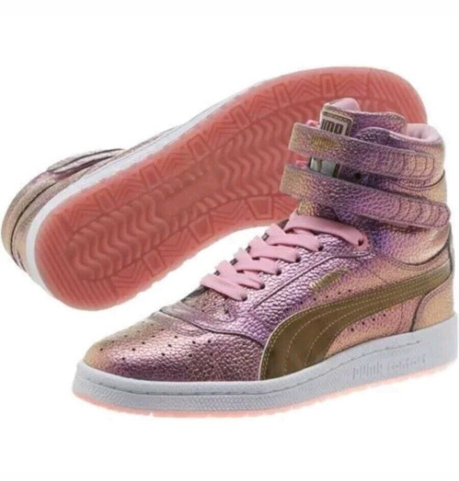 Puma Sky II Hi Reset Prism Pink Unicorn Retro Basketball Sneakers Women's shoes