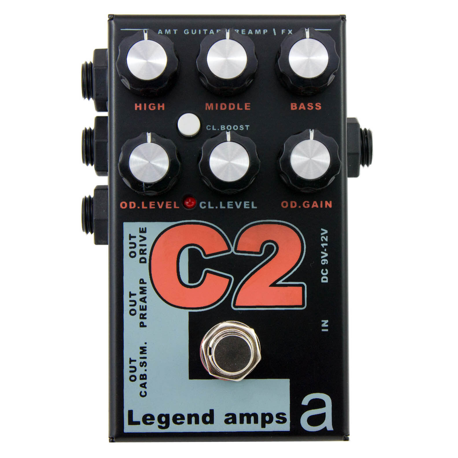 AMT C2 (Cornford) - 2 channels guitar preamp   distortion effects pedal