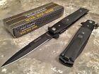 Tac-Force Spring Assisted Open Tactical STILETTO Folding Pocket Knife Black G10