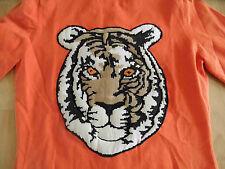 OUI Moments schönes Twin-Set orange m großem Tiger Rücken Motiv Gr. 38 TOP 07-13