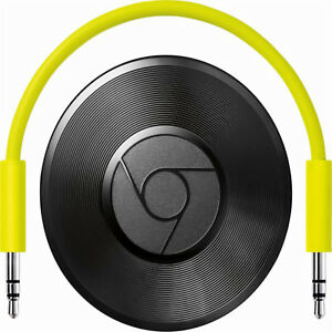 Google-Chromecast-Audio-Media-Streamer-Black-multi-room-Latest-Model-NEW