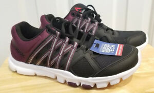 Reebok Women s Shoes YOURFLEX Trainette 8.0LMT Training Black Purple ... e7f24bf8a