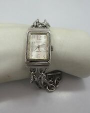 ECCLISSI Sterling silver wrist watch double chain band QUARTZ 33245