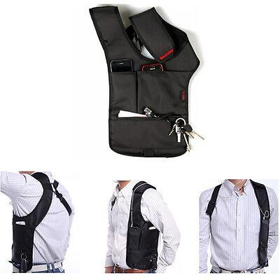 FBI Outdoor Sports Vest Hidden Underarm Pocket Shoulder Bag Wallet Tactical Pack