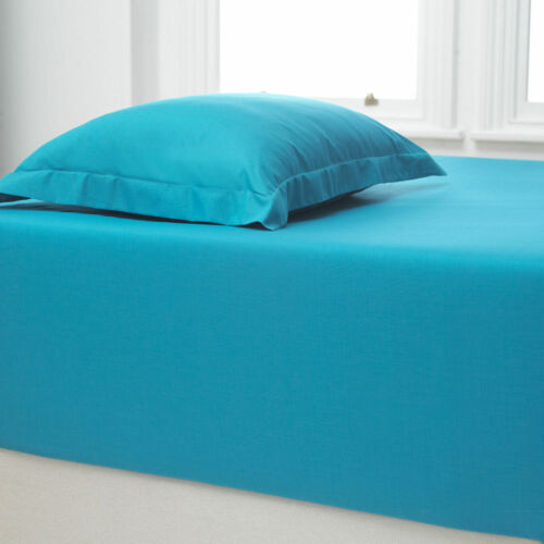 """Luxury Fitted Sheets Extra Deep 16/""""//40cm 180 Tc Bed Sheet Single Double King"""