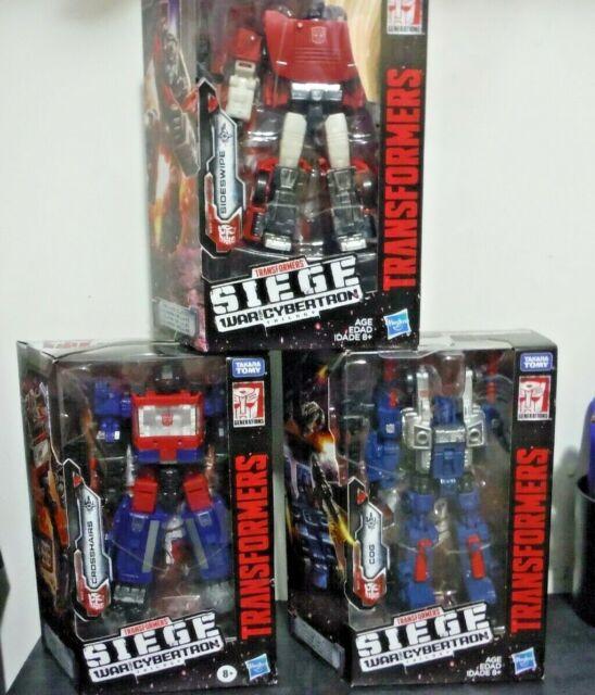 Lot of 3 Transformers SIEGE War Cybertron Deluxe Class Cog Crosshairs Sideswipe