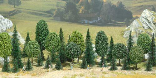 25 Tannen 10 latifoglie NUOVO mista di foresta 30-55 mm ALTA Busch 6590 Spur N//Z