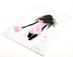 25 14x17 Pink/Black Fashion Girl Designer Mailers Poly Shipping Envelopes  Bags