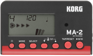 KORG MA2-BKRD LCD Pocket Digital Metronome Black /& Red