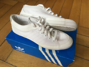 ad84426b84 ADIDAS Nizza Lo Remo Remodel 44 Canvas weiss Boat Sommer Sneaker ...