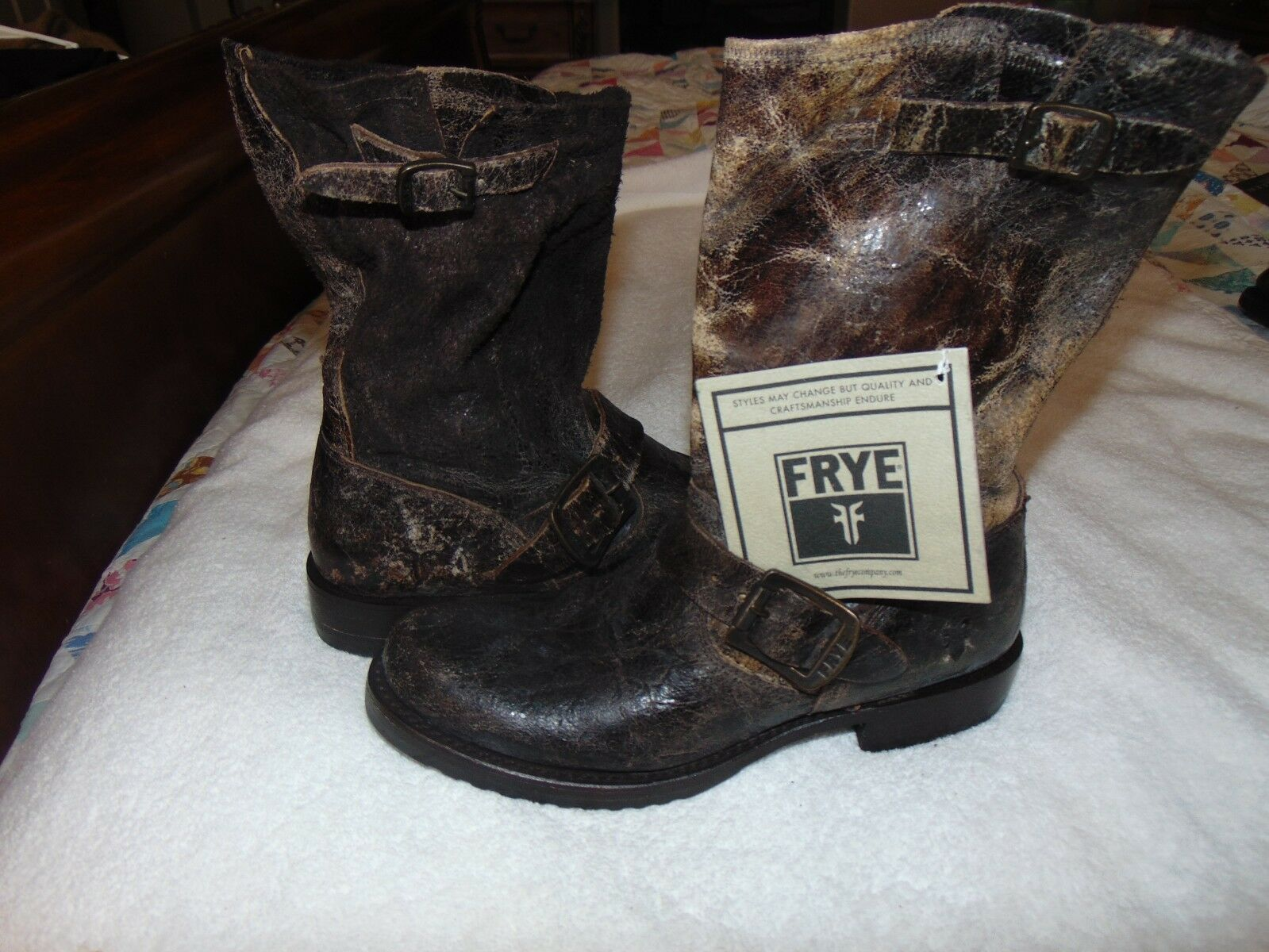 NEW NWT'S RYE VERONICA SHORT BOOT CHOCOLATE BROWN  DISTRESSED BOOTS  6.5 B   288