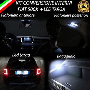 KIT-FULL-LED-INTERNI-FIAT-500X-KIT-COMPLETO-CANBUS-LED-TARGA-6000K-NO-ERROR