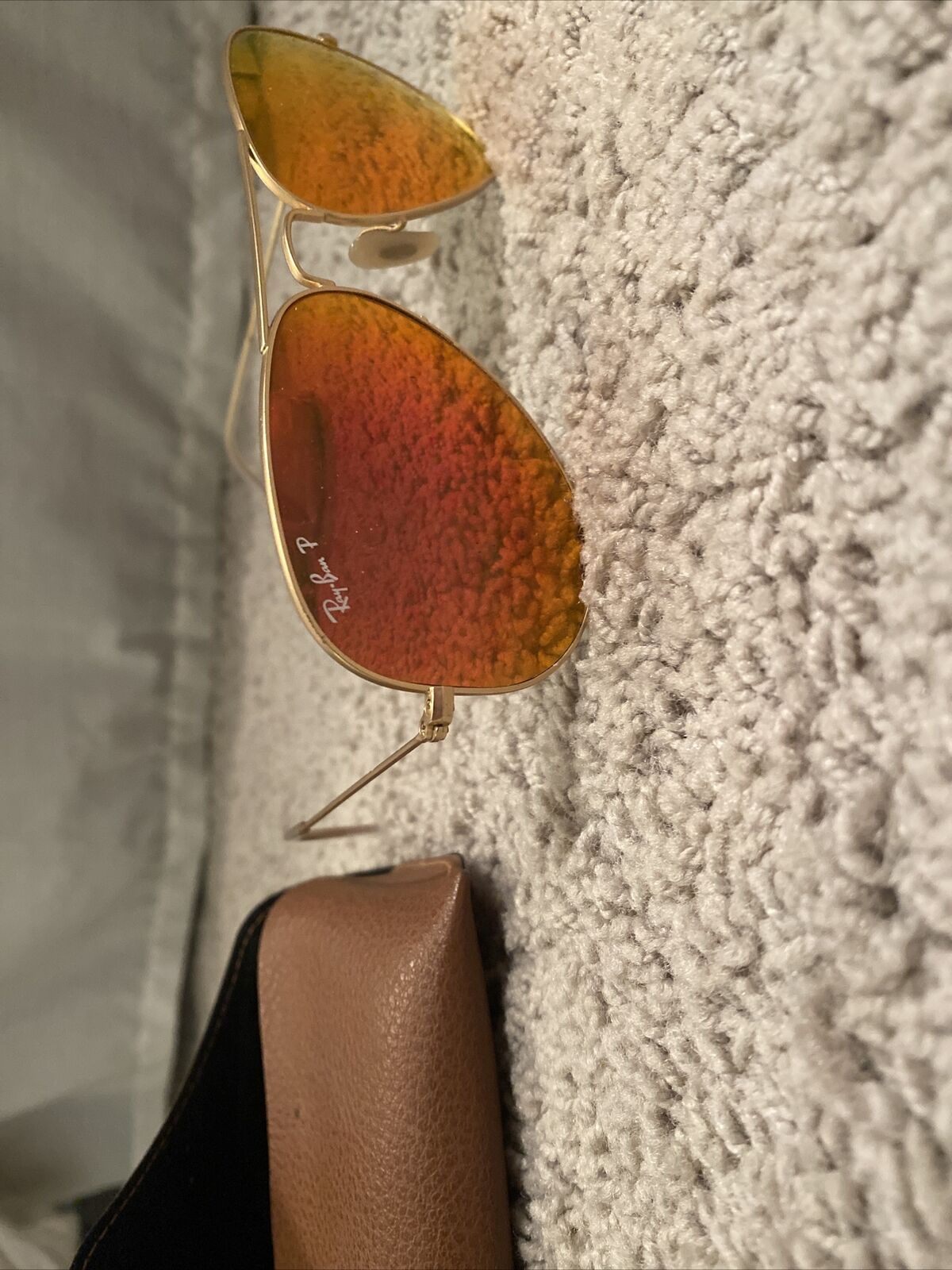 Women's Polarized Red Rayban Aviators - image 3