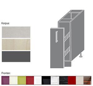 Küchenzeile neu  Unterschrank Küchenschrank 1-türig 15cm Ergänzung zu Küchenzeile ...