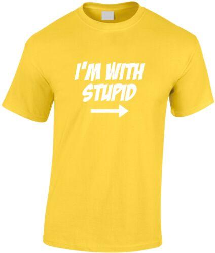 Je suis avec stupide children/'s t-shirt teen humour jeunesse blague drôle cool comic