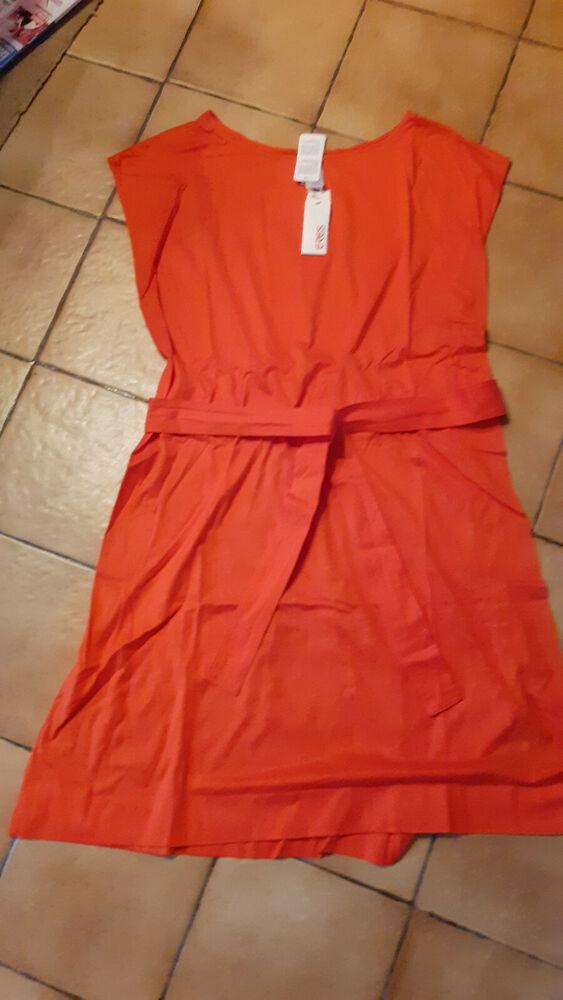 Eres Robe T2 Orange Neuf Avec Etiquette