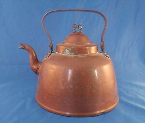 Antique-1840-039-s-copper-teapot-by-J-amp-C-G-Bolinder-Stockholm-Sweden