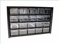 20 Schubladen Kleinteilemagazine Metall Regal schwarz Ordnung Aufbewahrung