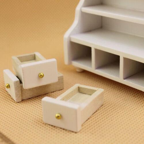 1//12 Dollhouse Miniature Furniture Bathroom Cabinet Toilet Cabinet White