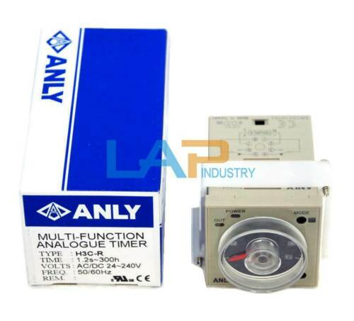 1PCS New For ANLY Industrial Timer H3C-R AC//DC 24~240Vin 1.2S~300H