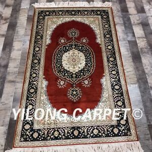 Image Is Loading YILONG 3 039 X5 039 Handknotted Persian Silk