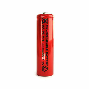 1-pc-AA-LR06-3000mAh-1-2V-NI-MH-rechargeable-battery-CELL-RC-MP3-2A-SILVER-RED