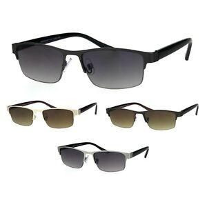 Mens-3-Focal-Multi-focus-Metal-Half-Rim-Sunreader-Reading-Glasses