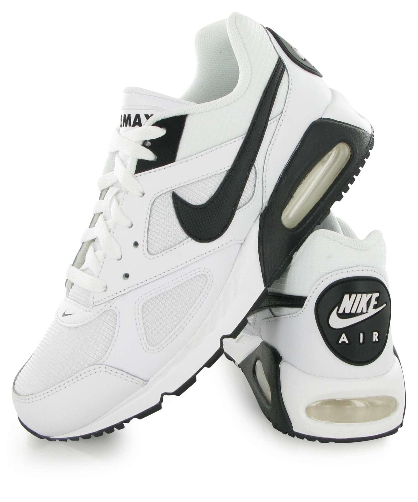 NIKE AIR MAX IVO  RUNNING WHITE BLACK TRAINERS Size UK_8 EUR _ 42.5 (580518 106)