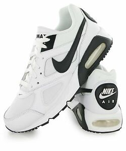 NIKE AIR MAX IVO RUNNING WHITE BLACK TRAINERS Size UK 8 EUR   42.5 ... b290c9443