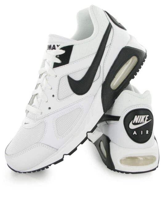6ec28be46bfdf NIKE AIR MAX IVO RUNNING WHITE/BLACK TRAINERS Size UK_8 EUR _ 42.5 (580518