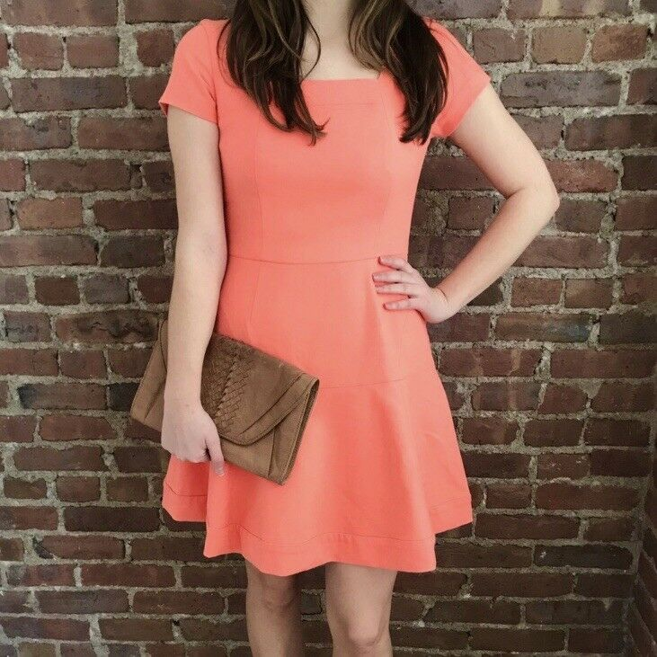 Shoshanna Tala Dress Coral   Salmon NWT 6