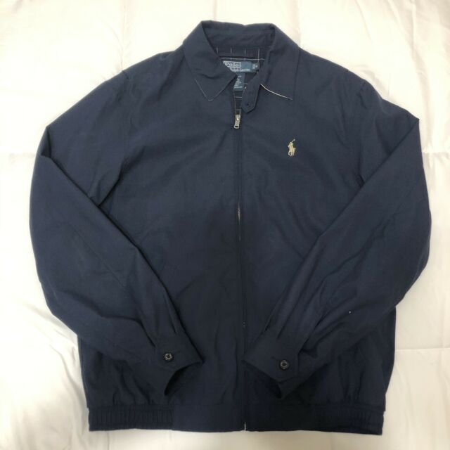 Men's Vintage Polo Ralph Lauren Chino Jacket Navy Size Small