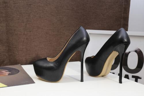 Plateforme Drag Queen homme Talons Hauts Crossdresser ESCARPINS BLANC TALON AIGUILLE Big Chaussures