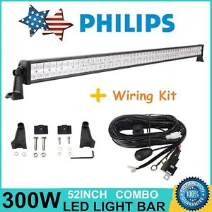 Details about 52Inch 300W LED Light Bar Offroad SUV Boat Dodge Ford on