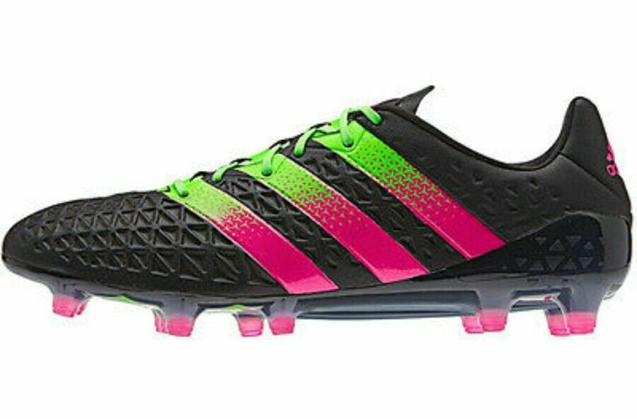 Adidas Ace 16.1 FG/AG Soccer Cleats Uomo   9.5 Nero Green AF5082 NEW  200