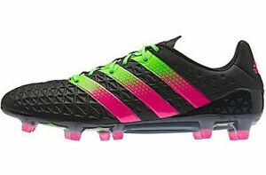 quality design 62a3a 60bc8 Details about Adidas Ace 16.1 FG/AG Soccer Cleats Men's US 6.5 Black Green  AF5082 NEW $200