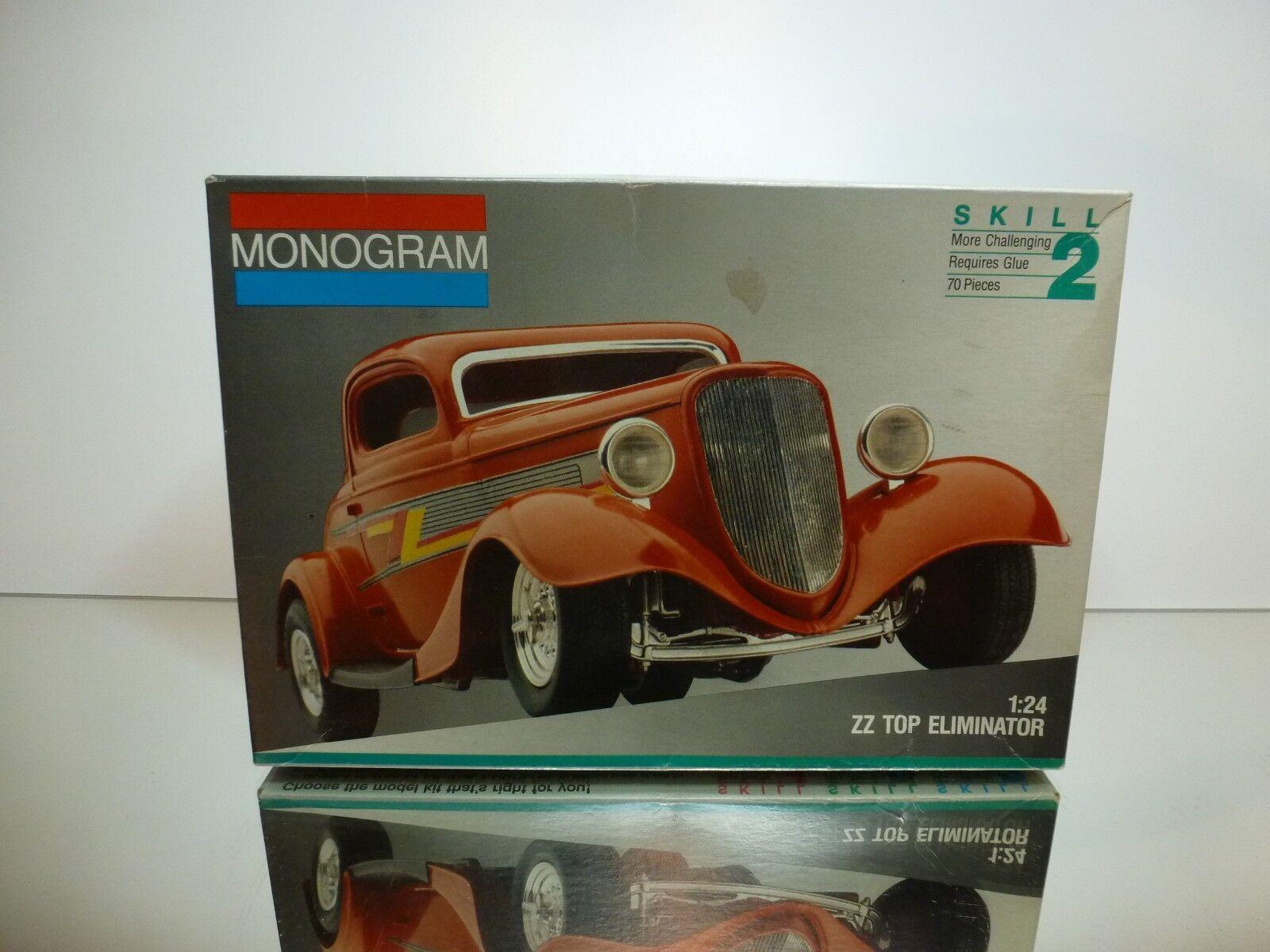 MONOGRAM KIT  unbuilt  ZZ TOP ELIMINATOR - rosso 1:24 - RARE - NEAR MINT IN BOX