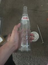 Old Vintage Pepsi-Cola Beverages Soda Pop Bottle 16 fl oz One Pint
