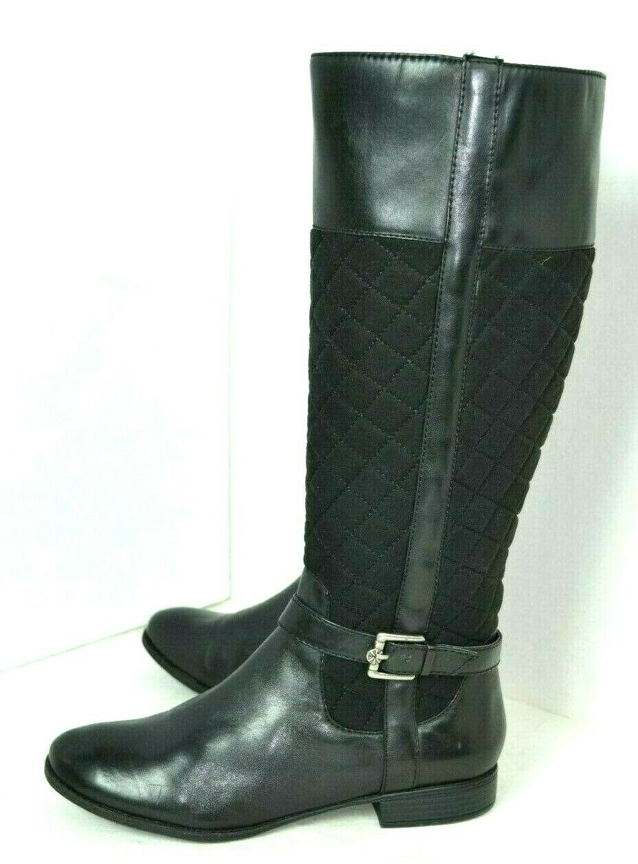 ISAAC MIZRAHI BLACK GENUINE LEATHER BOOTS SIZE 8.5 M