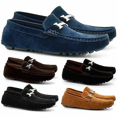 Mens Faux Suede Casual Loafers Moccasins Slip On Driving Shoes Uk Sizes 6-11 New