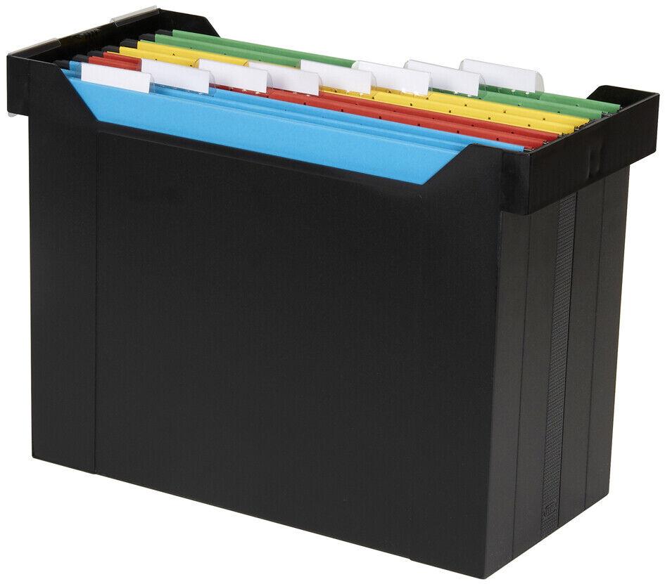 Elba Hängemappenbox go set schwarz 5 farbige Hängemappen Ordner
