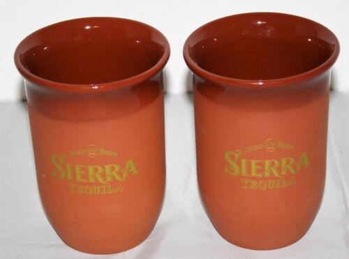 Sierra Tequila 2x Ton Becher Cocktail Longdrink Glas Kupferbraun Terracotta NEU