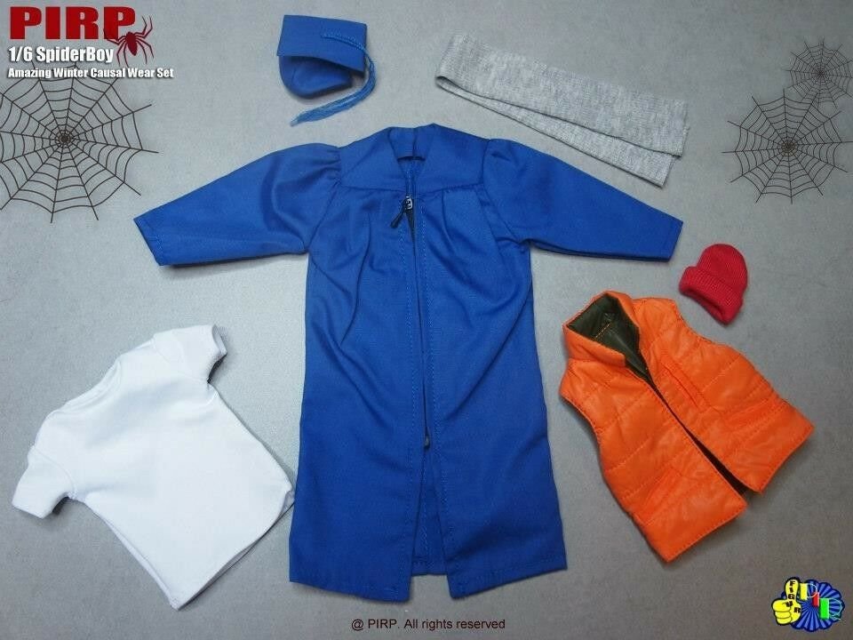 PIRP 1 6 Scale Spider Boy Amazing Winter Casual Wear Set 2.0 For Hot Toys Body