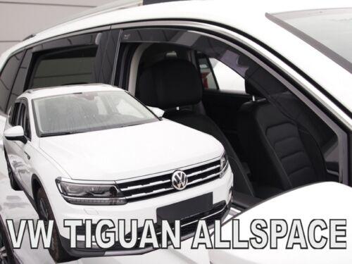 VW Tiguan allspace II 5 puertas 2017-up viento desviadores 4pc Set tintadas Heko