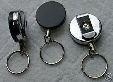 Hvy Duty Retractable Reel Key Id Badge Belt Clip Chain